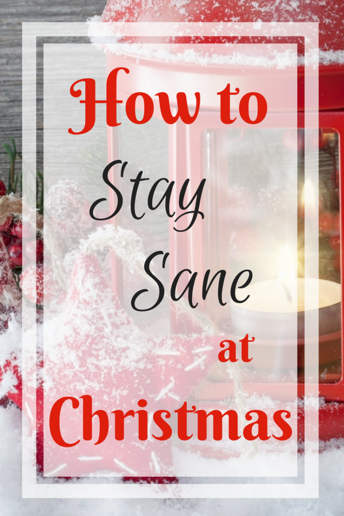 stay sane at Christmas