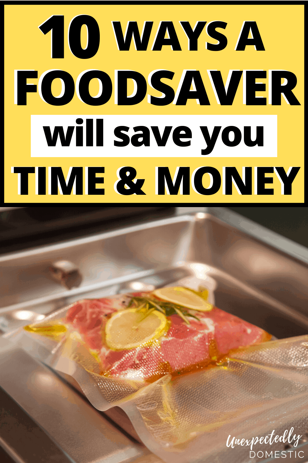 Foodsaver tips and tricks! How to use a Foodsaver vacuum sealer to stretch your grocery budget, and keep everything fresher longer!