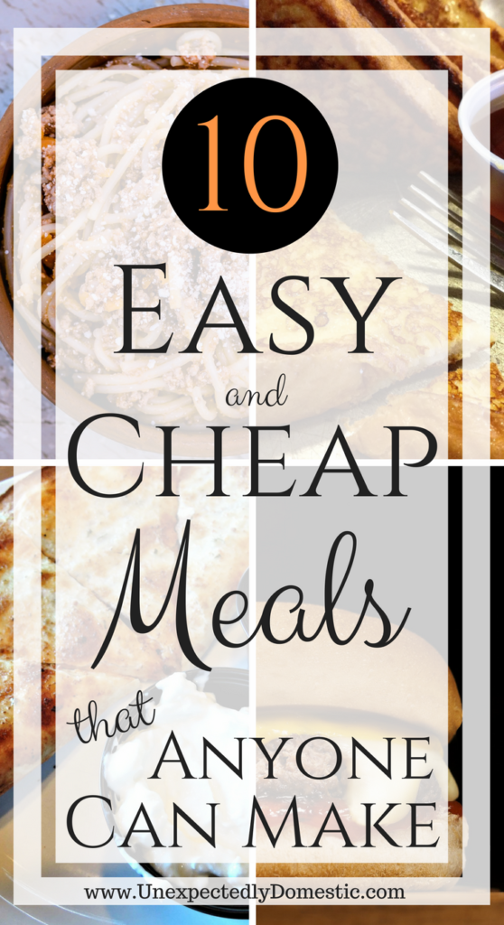 easy cheap meals