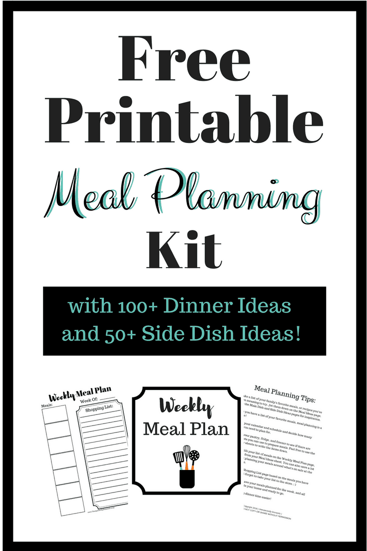 Free Weekly Meal Planning Printables: How To Create Your Own Meal Planning Kit