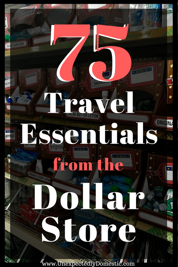 dollar store travel items