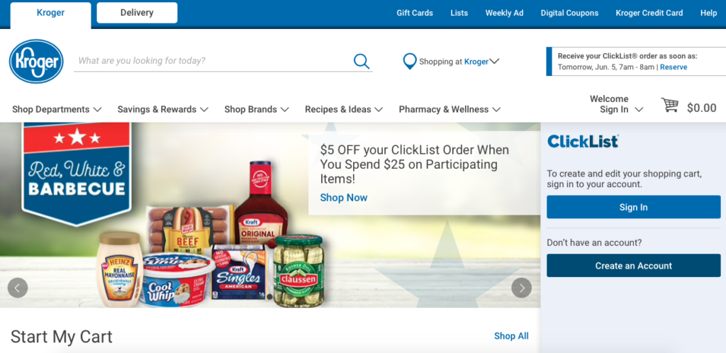 how to use Kroger ClickList