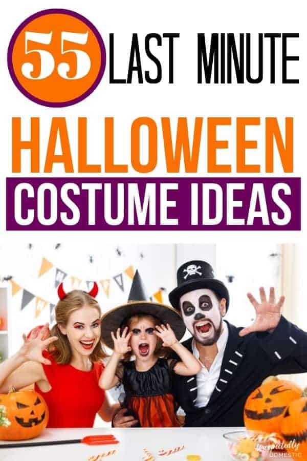 55 Last Minute Homemade Halloween Costume Ideas (creative, cheap, and easy!)