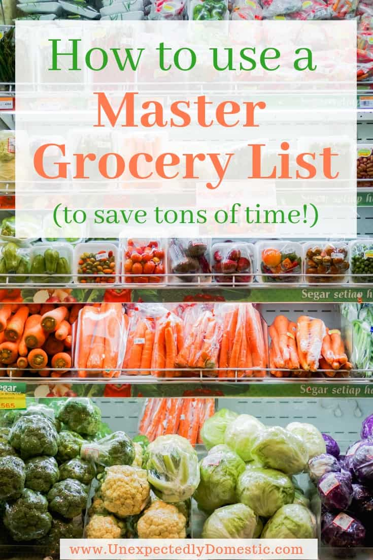 How to Use a Master Grocery List (+ FREE Printable to save time and sanity!)