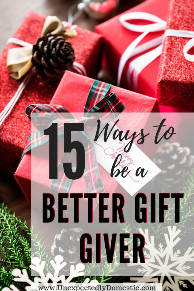 Check out these 15 easy gift ideas and learn how to be a better gift giver. It'll help you learn how to find the perfect gift for someone.