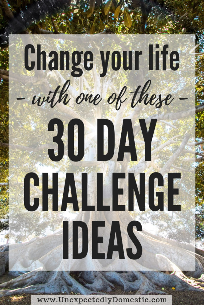 Check out this list of 30 day challenge ideas! Change your life in 30 days by using these personal challenge examples to create new habits!