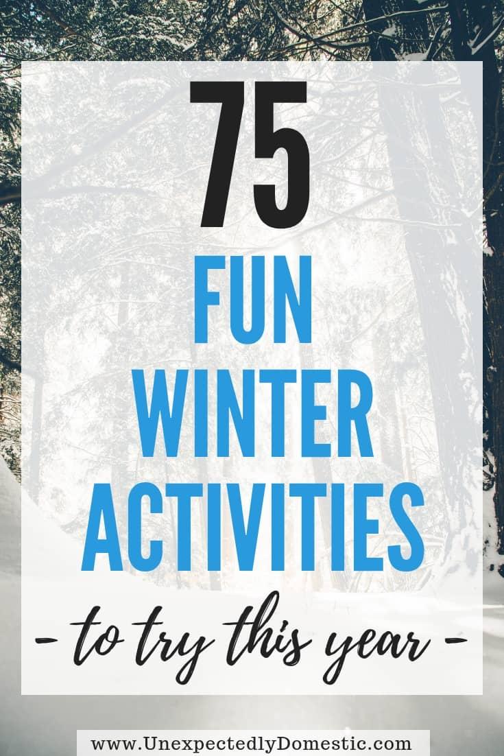 75 Winter Bucket List Ideas to Help You Enjoy the Season More