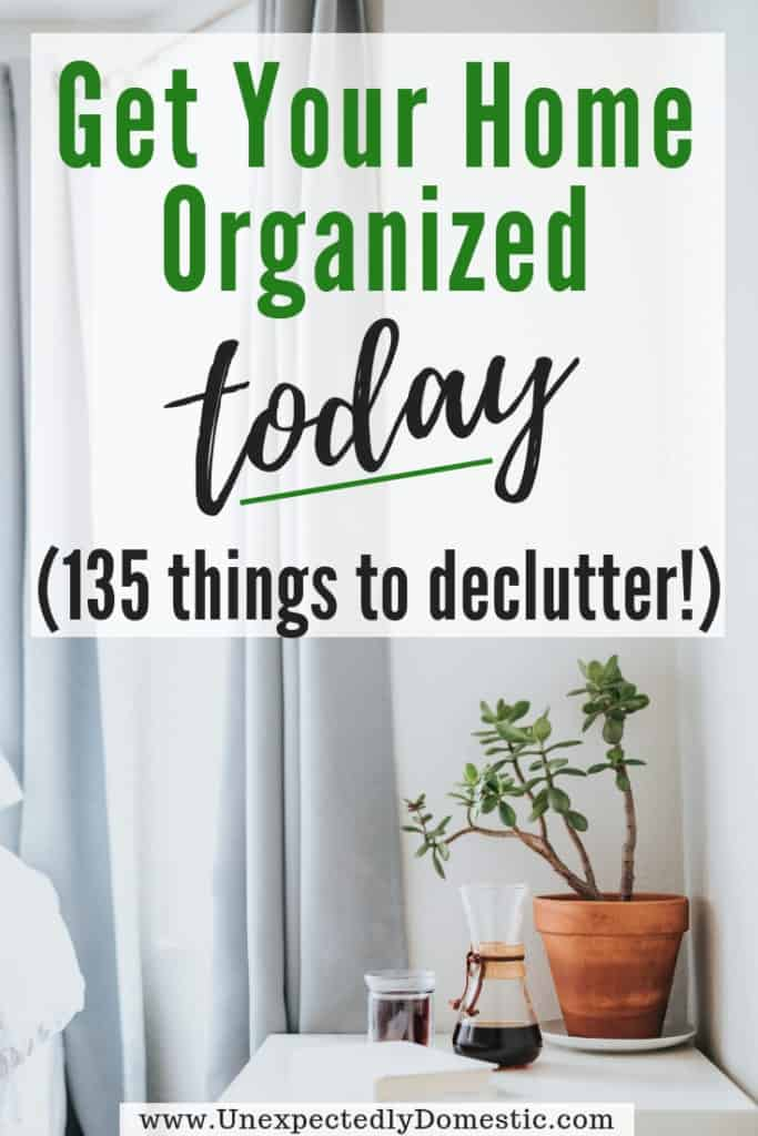 """Ever wonder """"how can I declutter my house quickly?"""" Use this printable declutter your home checklist. It's a list of 135 things to declutter and throw away!"""