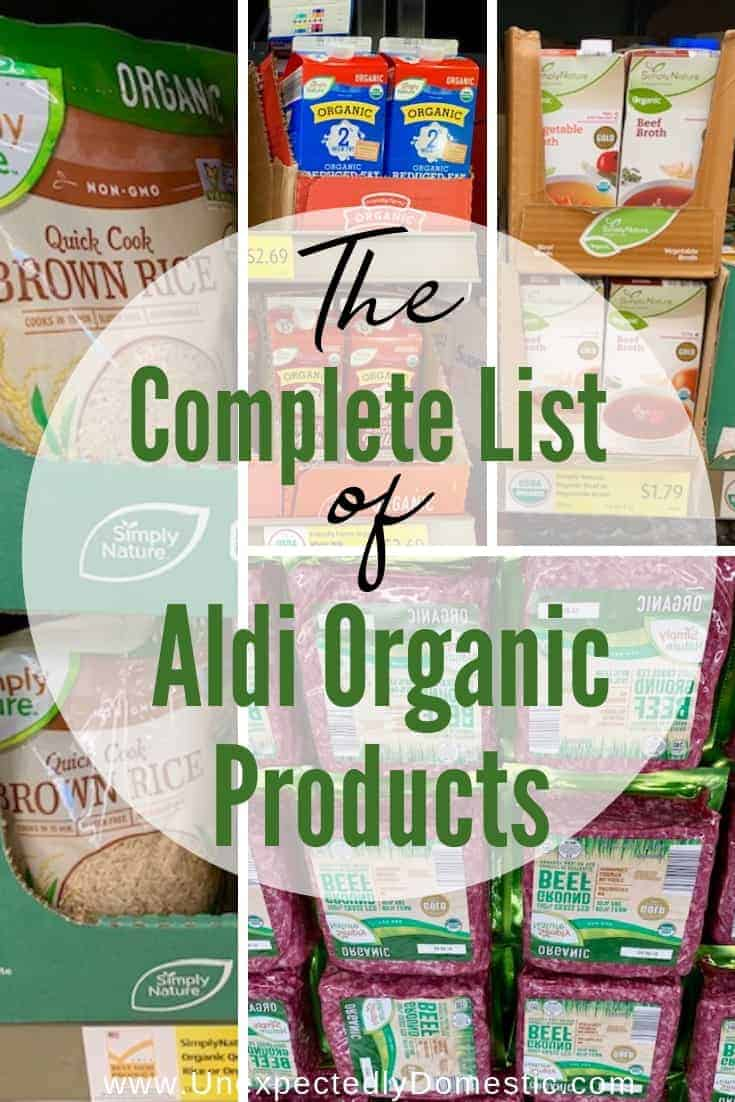 The Complete List of Aldi Organic Products