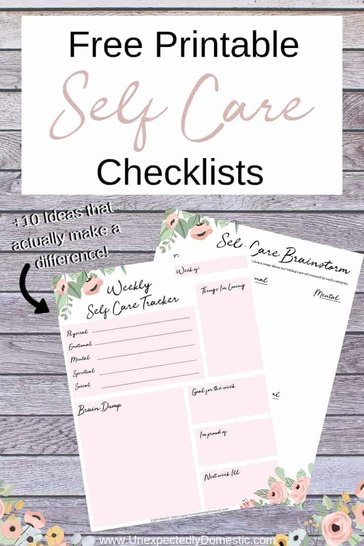 self care checklist    10 ideas that will actually nourish