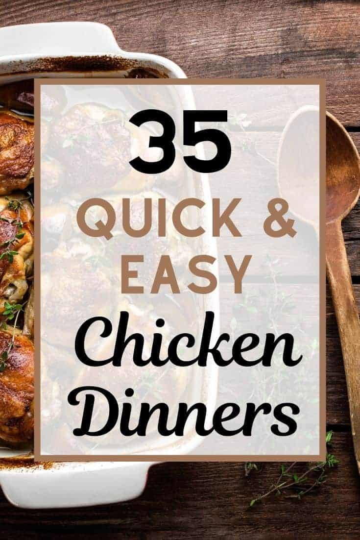 Try these easy yummy chicken recipes with few ingredients! Here's a ton of 4 ingredient easy chicken dinner casseroles and meals for families.