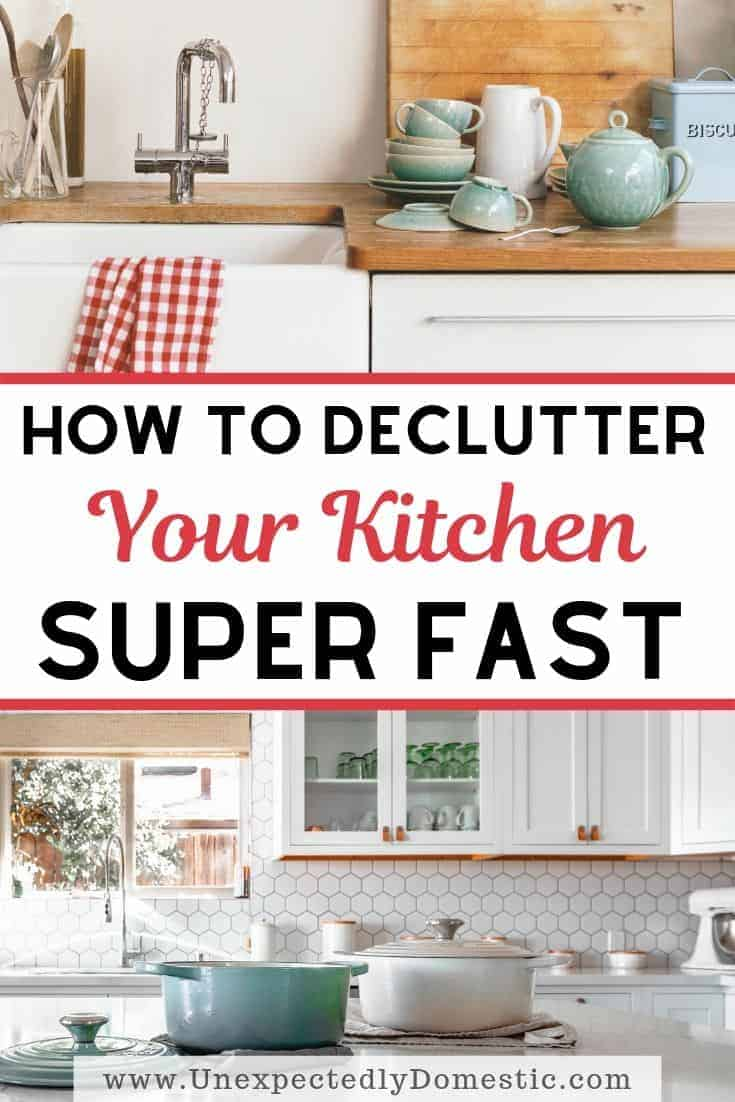 How to Declutter Your Kitchen Fast (the exact action steps!)