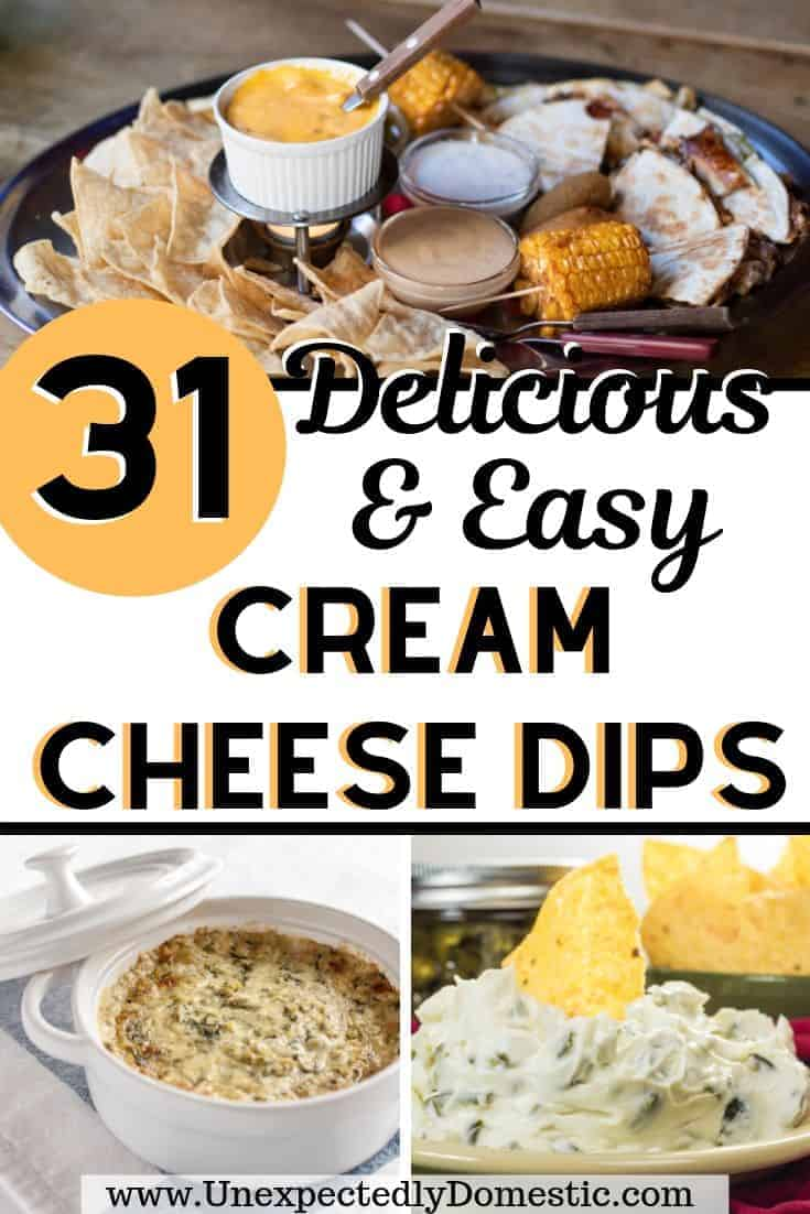 31 Delicious Cream Cheese Dips (for your next party, potluck, BBQ, or tailgate!)