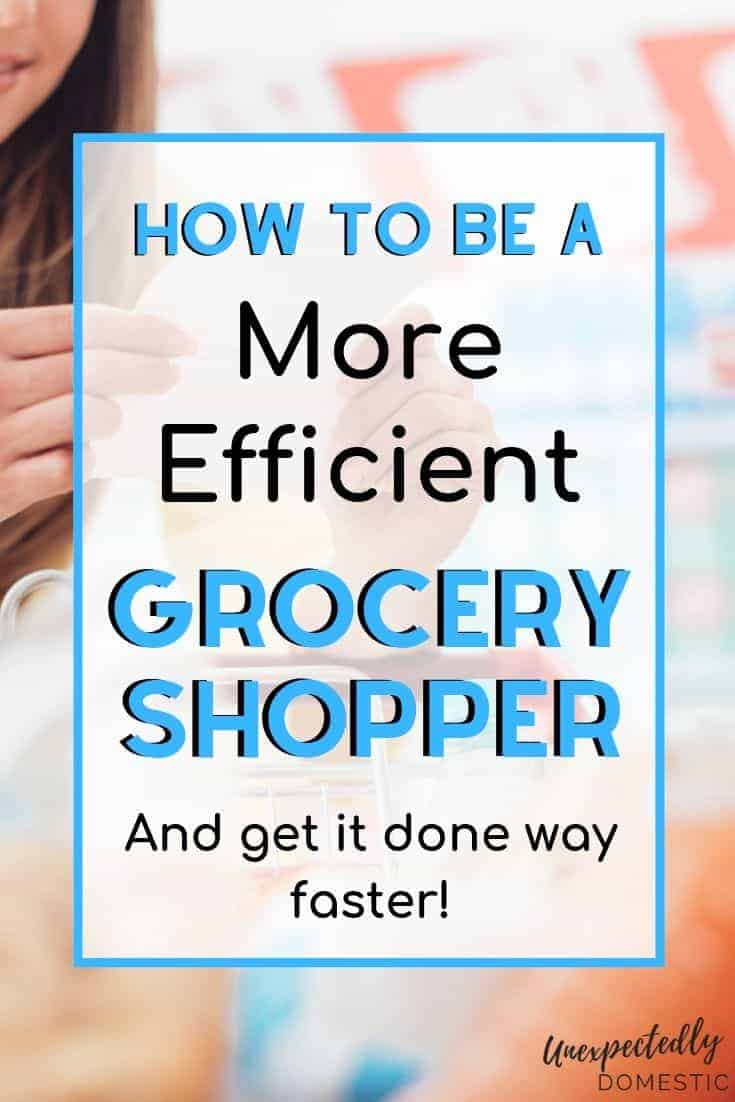 How to save time grocery shopping when you're busy! These smart shopping tips will show you how to grocery shop efficiently (and on a budget!)