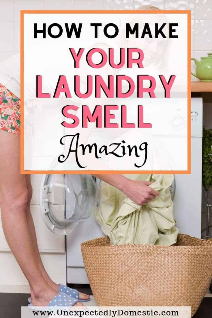 How to make your laundry smell good! All the secret ways to make your clothes smell amazing naturally, and for longer. Here's your stinky laundry solution!