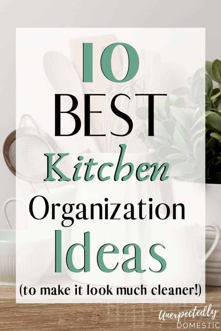 Kitchen look a hot mess? Try these kitchen organization ideas! Even the smallest kitchen will look amazing with these DIY hacks.