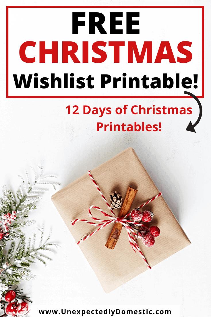 Christmas List Template – FREE Printable Wish List