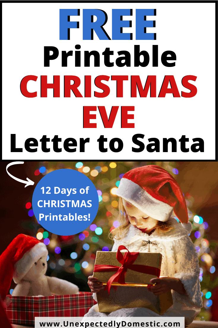 Blank Santa Letter Template – FREE Printable Christmas Eve Letter to Santa!