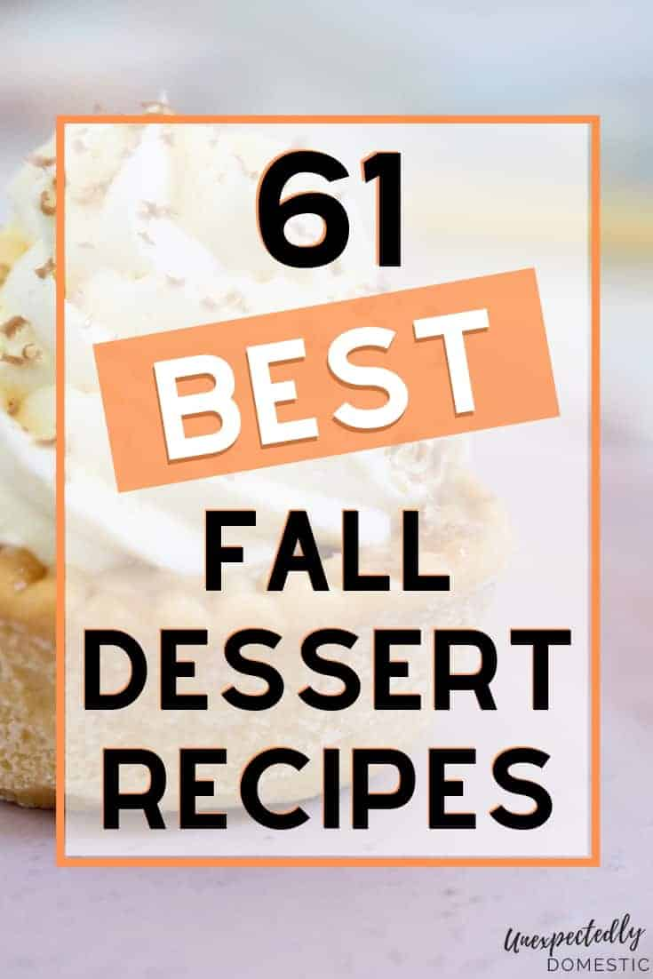 So many delicious and easy fall dessert recipes! These easy desserts are perfect for a crowd, and include pumpkin, cakes, cookies, and fall fruits.