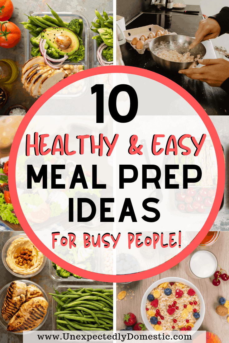 A ton of easy meal prep ideas for the week! Exactly how to to prep food for easy breakfast, lunch, or dinner, even for beginners on a tight budget!