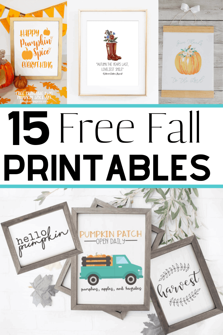 15 Beautiful Free Fall Printables – Decorating for Fall on a Budget!