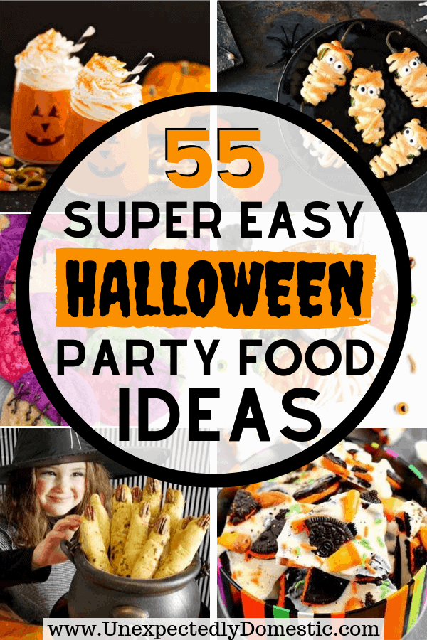 Party guests will love these easy Halloween party food ideas! Fun Halloween appetizers and desserts to make your food table really pop.