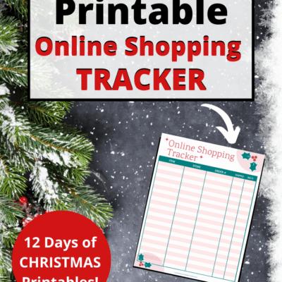 Free Online Shopping Tracker Printable