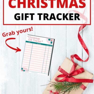Free Printable Christmas Gift Tracker