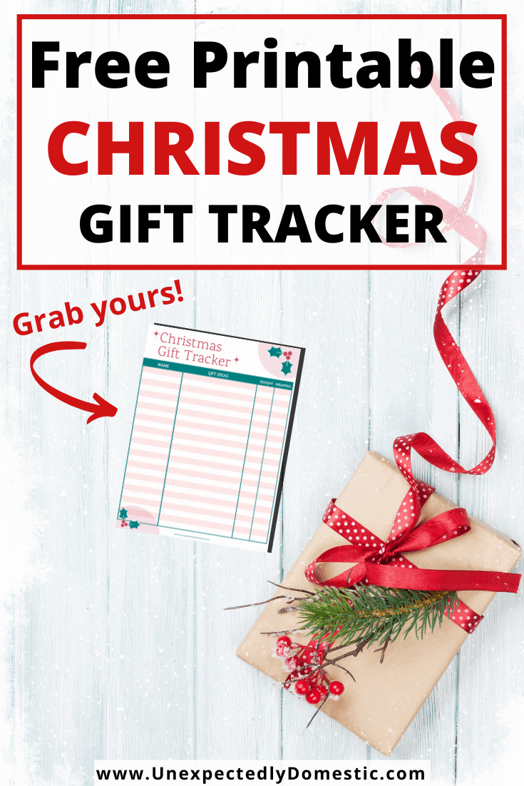 Free printable Christmas gift tracker! Use this template to easily keep track of gift ideas for each person on your list, plus if you've bought and wrapped them!