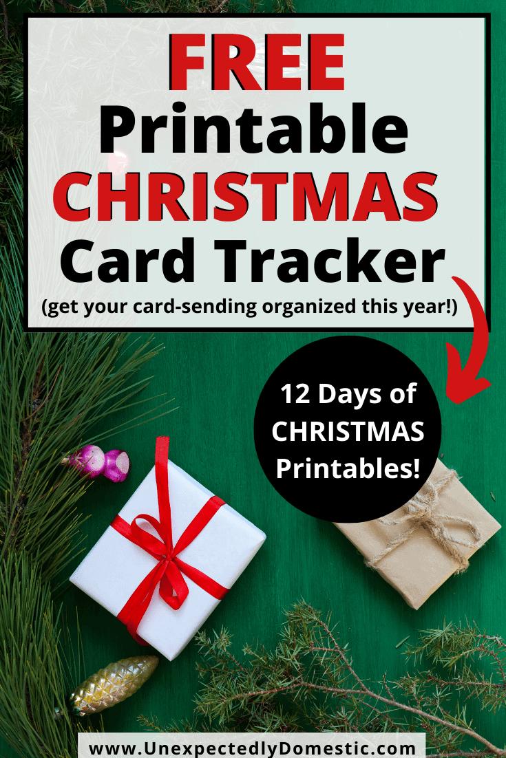 Christmas Card Tracker – Free Holiday Printables!