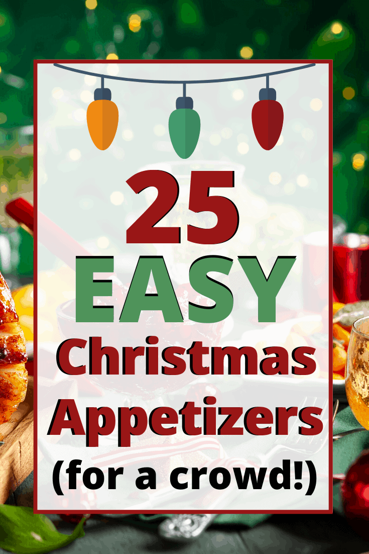 Cute Christmas themed appetizers! These easy holiday appetizers and finger foods are the perfect party food ideas for a crowd!