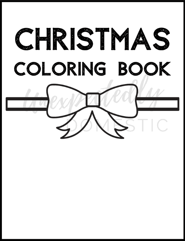 Free printable Christmas coloring pages! This cute printable holiday coloring book includes 32 festive coloring pages. Easy enough for kids, but also fun for adults!