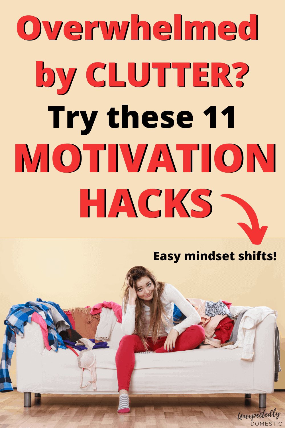 Decluttering motivation tips for tackling clutter and getting organized!How to find the motivation to declutter your homeand get rid of stuff.