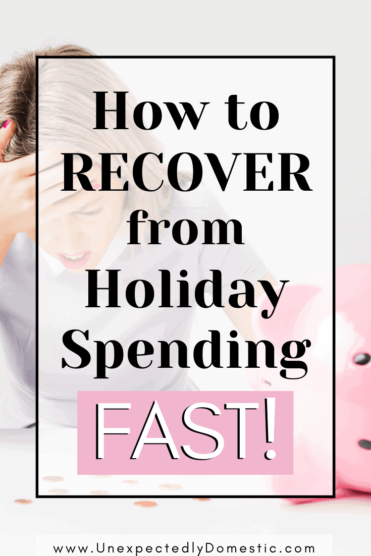 How to Recover From Holiday Spending…FAST!