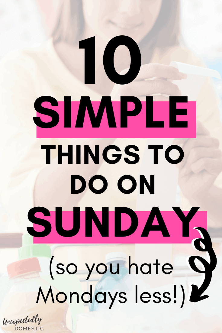 How to prepare for the week on Sunday. To ensure you have a productive week, do some Sunday prep and planning...enjoy a less stressful week ahead!
