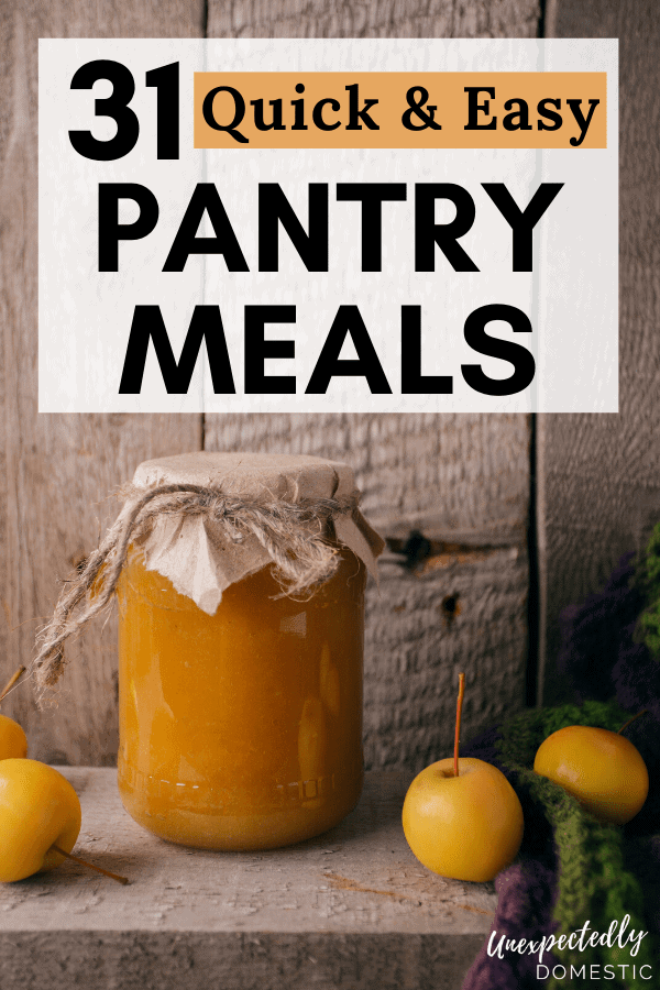 30 eat from the pantry recipes! These easy recipes from the pantry are perfect to make when money is tight, and you need to shop your pantry.