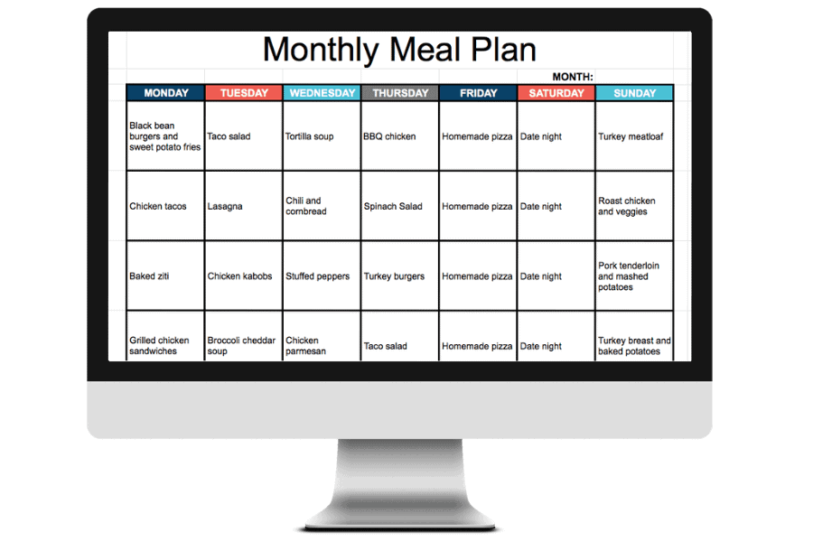 Google sheets meal planner, plus editable grocery list template! How to use a meal planning spreadsheet to plan your weekly menu in minutes.