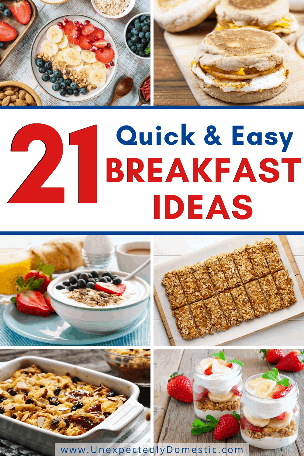 Quick and simple breakfast ideas! This list of breakfast food ideas offers lots of options for the most important meal of the day.