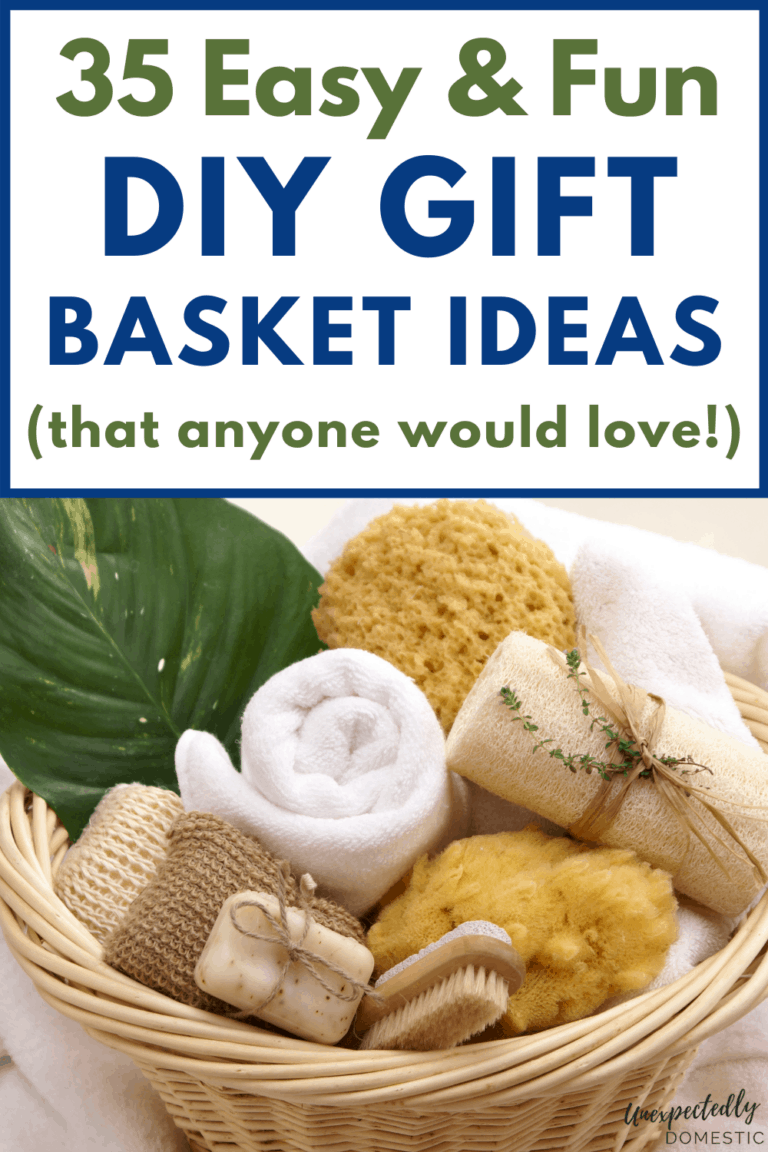 35 Easy Homemade DIY Gift Basket Ideas (for any occasion!)