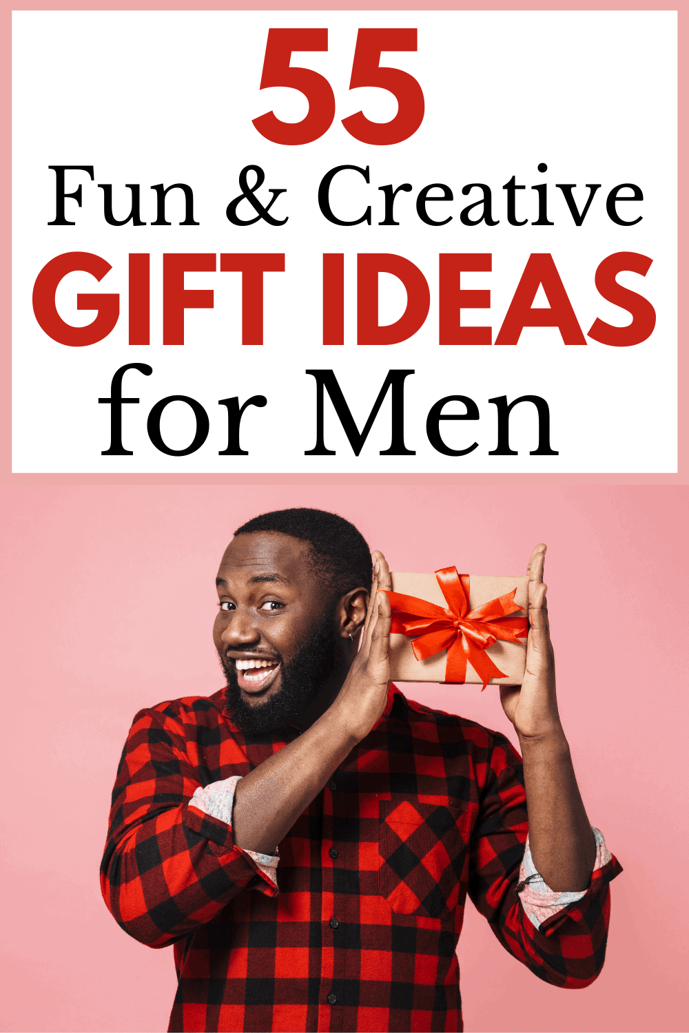 Gift ideas for guys! These creative, unique, and thoughtful gifts for men making shopping for your favorite guy easier than ever.