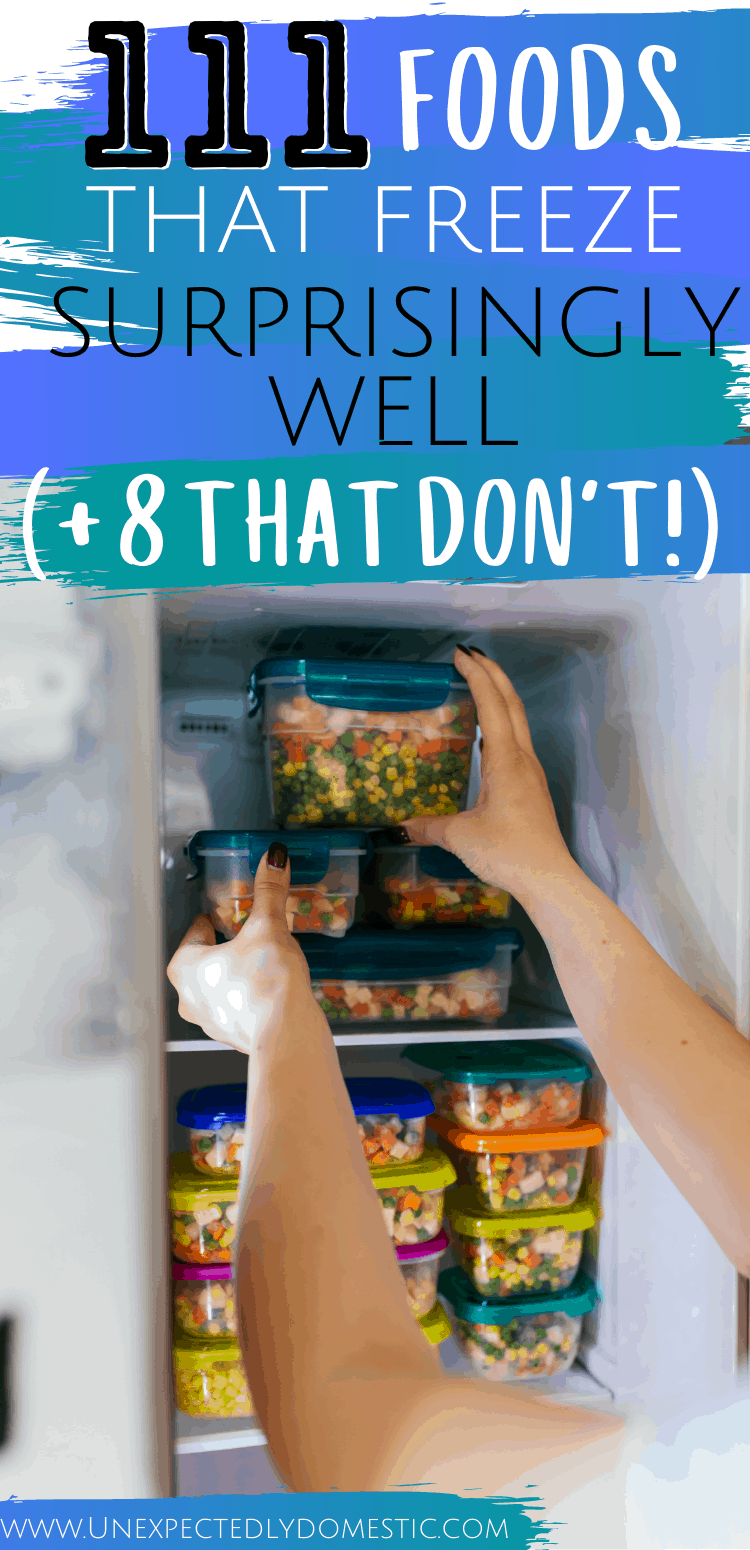 100+ foods that freeze well! Here are the best things to keep in your freezer, PLUS which foods cannot be frozen.