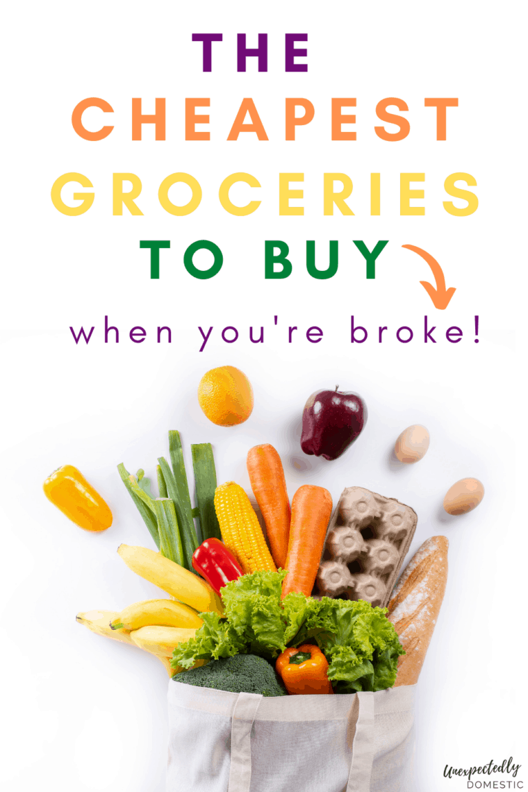 75+ Cheap Grocery List Ideas (the cheapest foods to buy on a budget!)