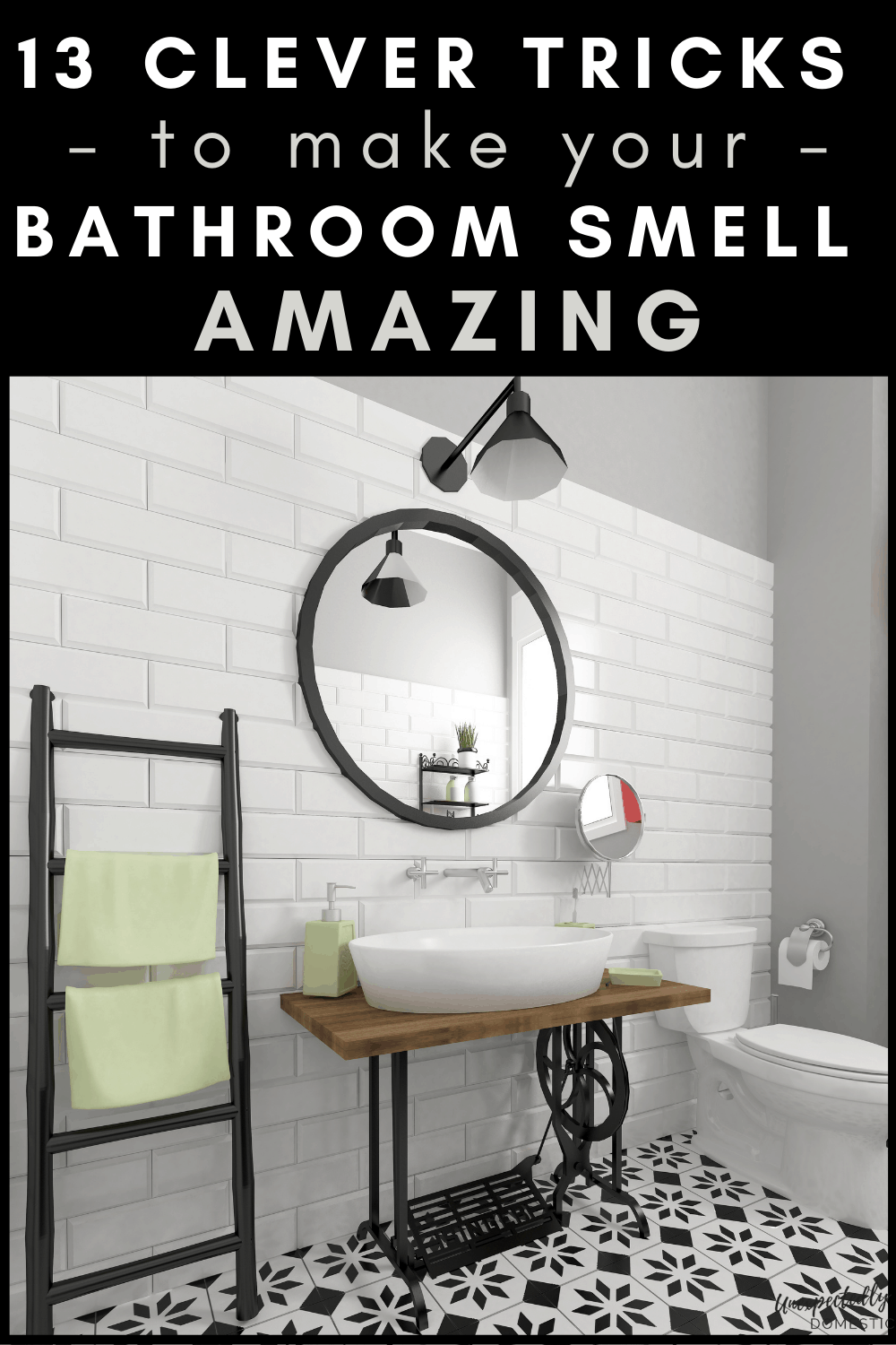How to make your bathroom smell nice! Get rid of bathroom odor naturally with these easy hacks!