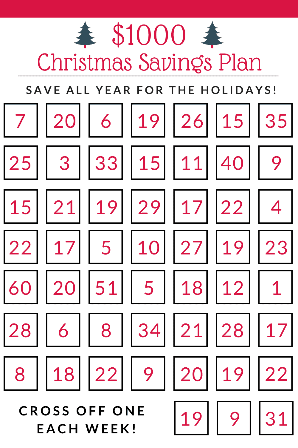 Learn how to save 00 in 52 weeks with this Christmas savings plan for! How to save money for Christmas this year, so you can actually enjoy the holiday season!