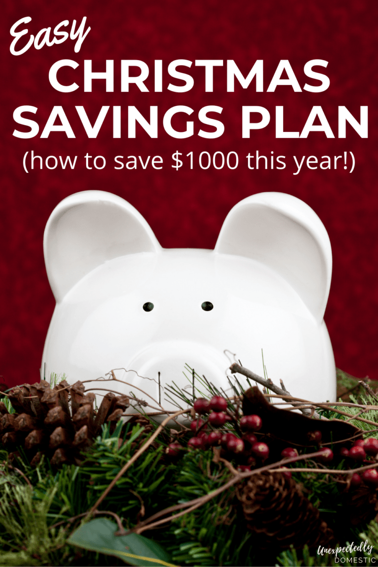 Easy Christmas Savings Plan for 2021 (have enough money for the holidays this year!)
